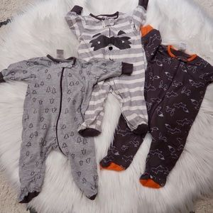 Baby Boy 3pk Sleep N Play- Gray